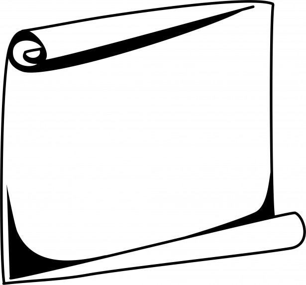 Borders clipart simple. Scroll border clip art