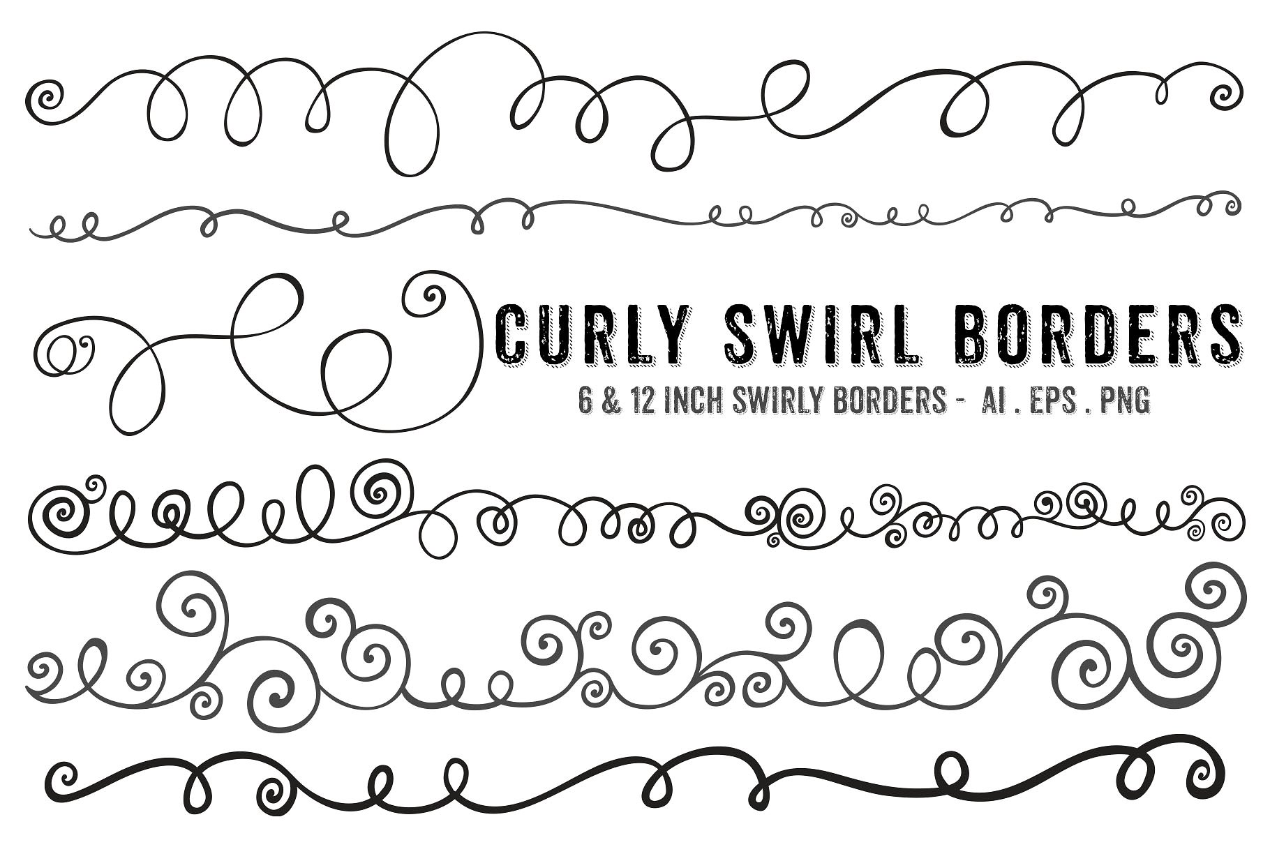 Frame photos graphics fonts. Borders clipart swirl
