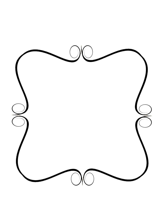 Simple swirls border panda. Borders clipart swirl