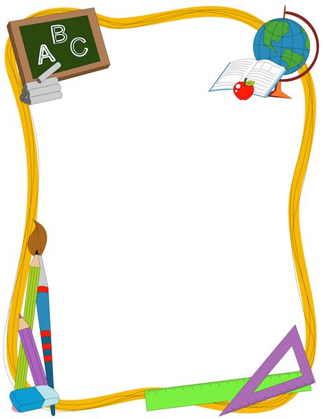 Free border cliparts download. Borders clipart teacher