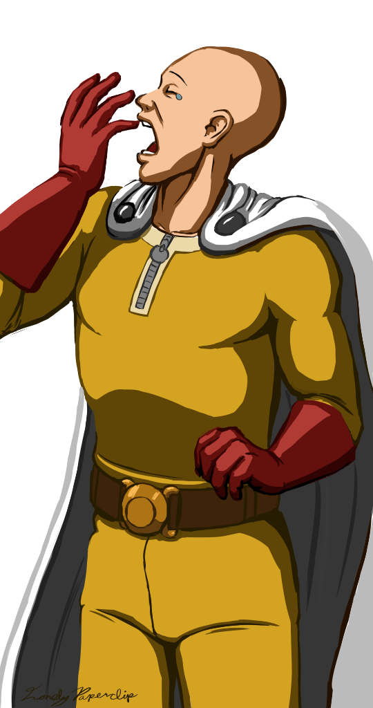 Bored clipart bored man. One punch guy by