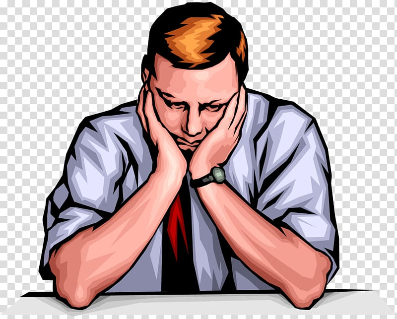 Man sitting at the. Depression clipart sad