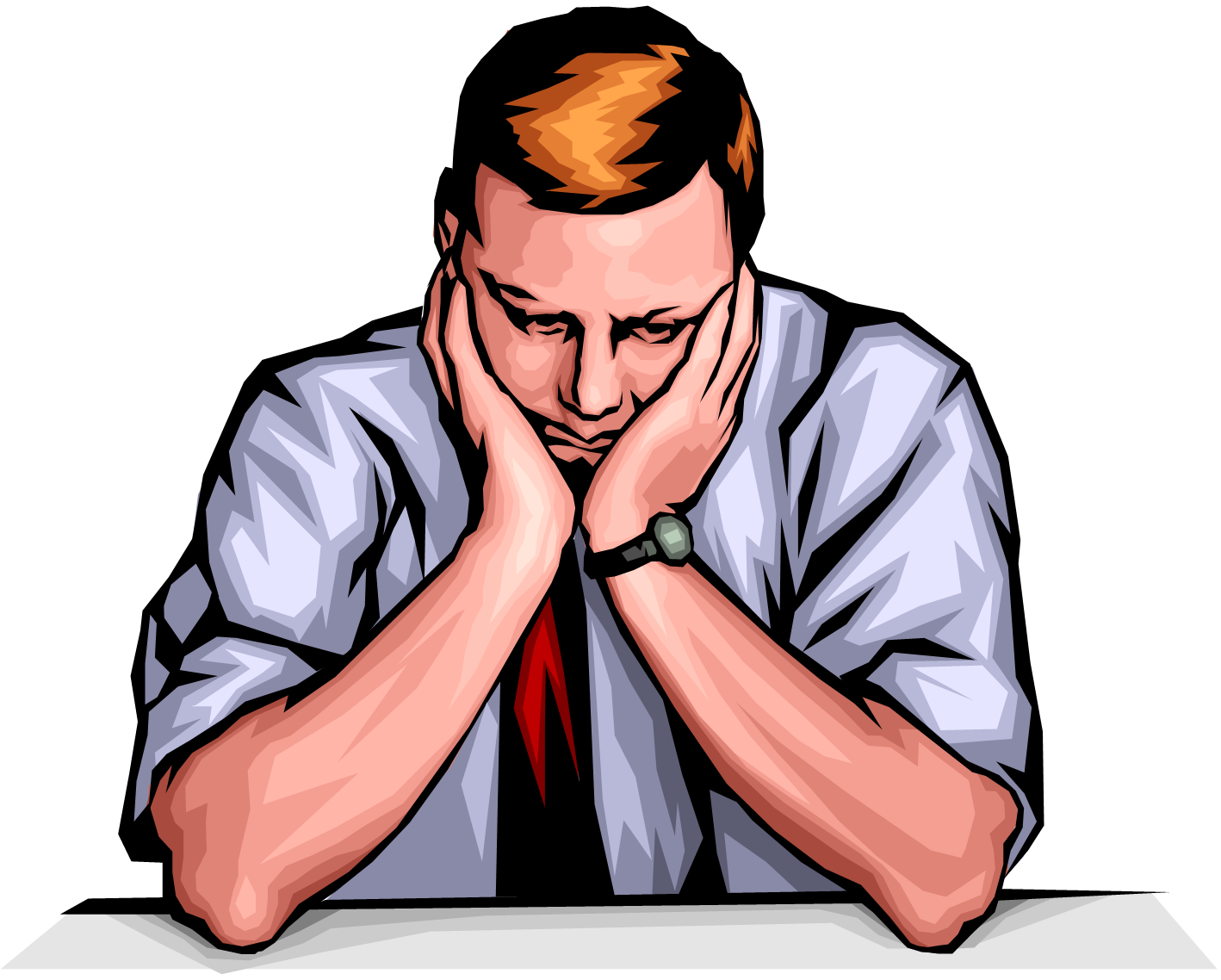 Man . Working clipart bored