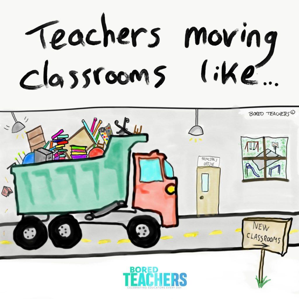 Bored clipart bored teacher. Teachers moving classrooms comics