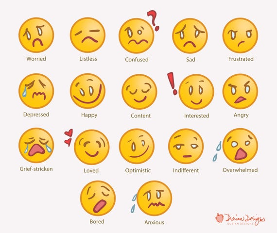 Emoji commercial use yellow. Emotions clipart anxious