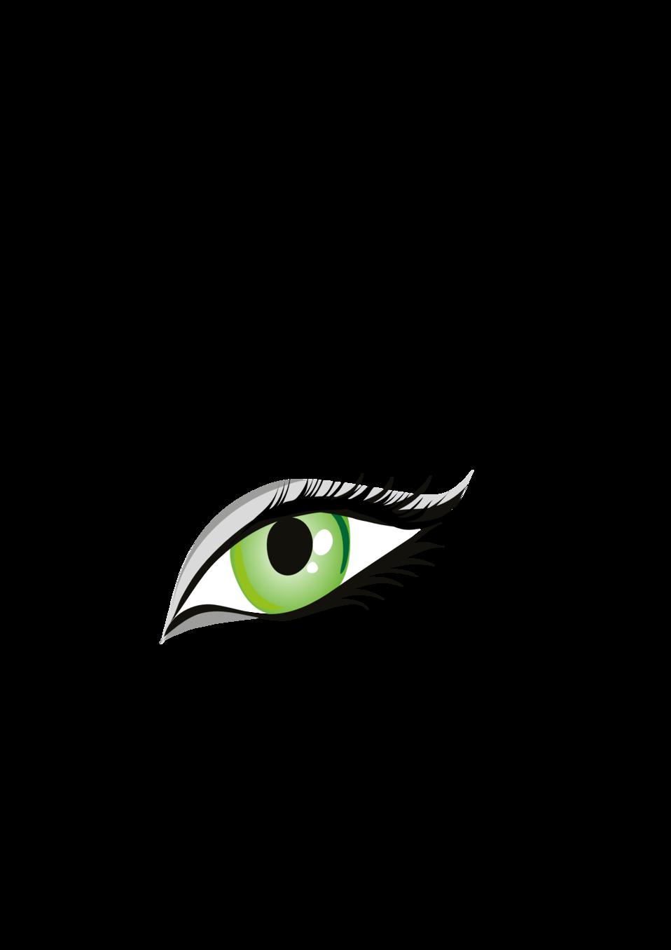 Public domain clip art. Eye clipart illustration