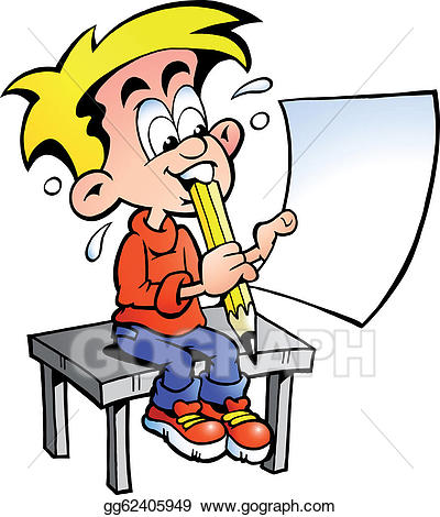 Bored clipart guy. Vector stock young school