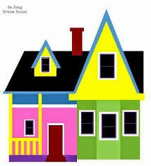 Pixar s up house. Bored clipart home clipart