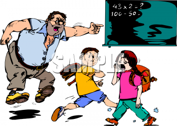 Picture of a teacher. Boys clipart bored