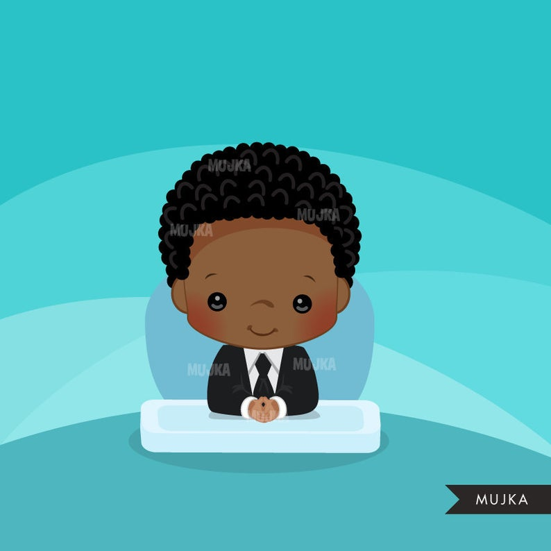 Baby with business suit. Boss clipart