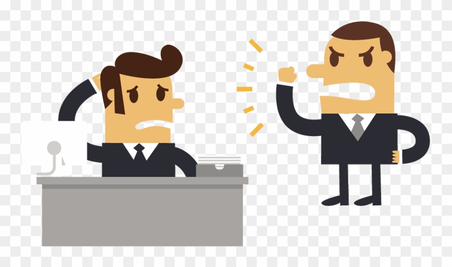 Boss clipart. Businessman cartoon man angry