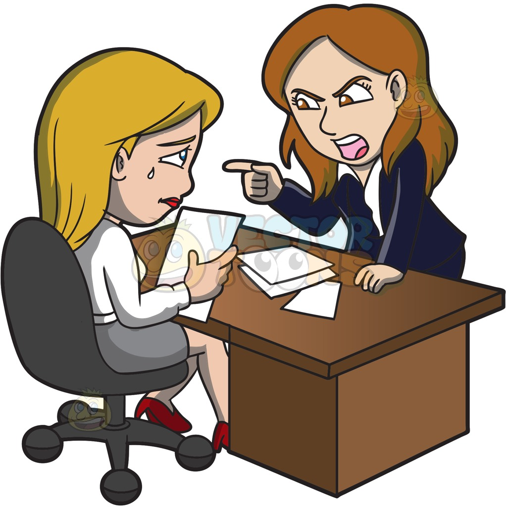 Collection of boss free. Yelling clipart manager employee
