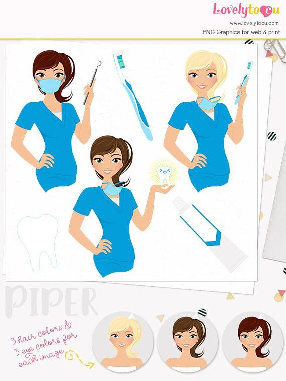 Woman character care illustration. Dentist clipart dental hygienist