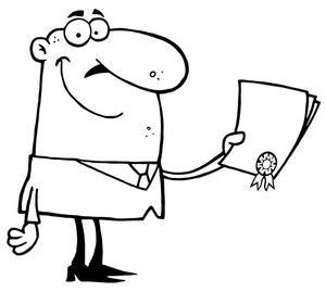 Certificate clipart black and white. Business image clip art
