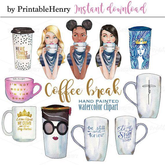 Starbucks coffee fashion graphics. Boss clipart bossy