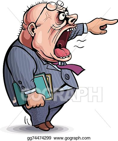 Boss clipart bossy. Eps vector screaming angry