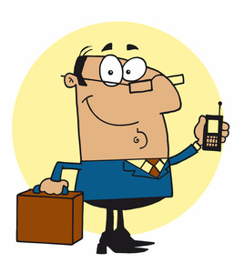Boss image successful businessman. Briefcase clipart business