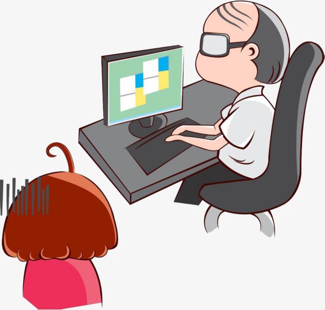 Boss clipart computer. Mister plays games hand