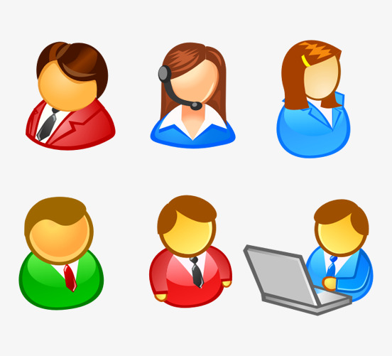 Office worker operator png. Boss clipart computer