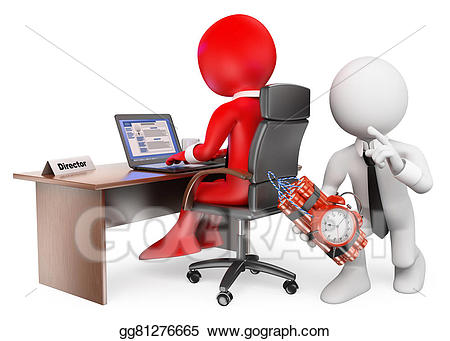 Drawing d white people. Boss clipart computer