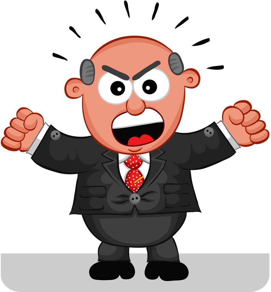 . Boss clipart demanding
