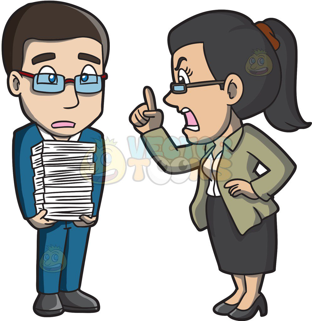 Yelling clipart manager employee. Collection of boss free