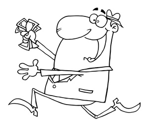 Boss clipart greedy. Coloring pages image man