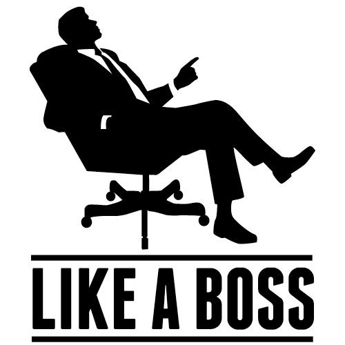 Changing medical management jobs. Boss clipart junior