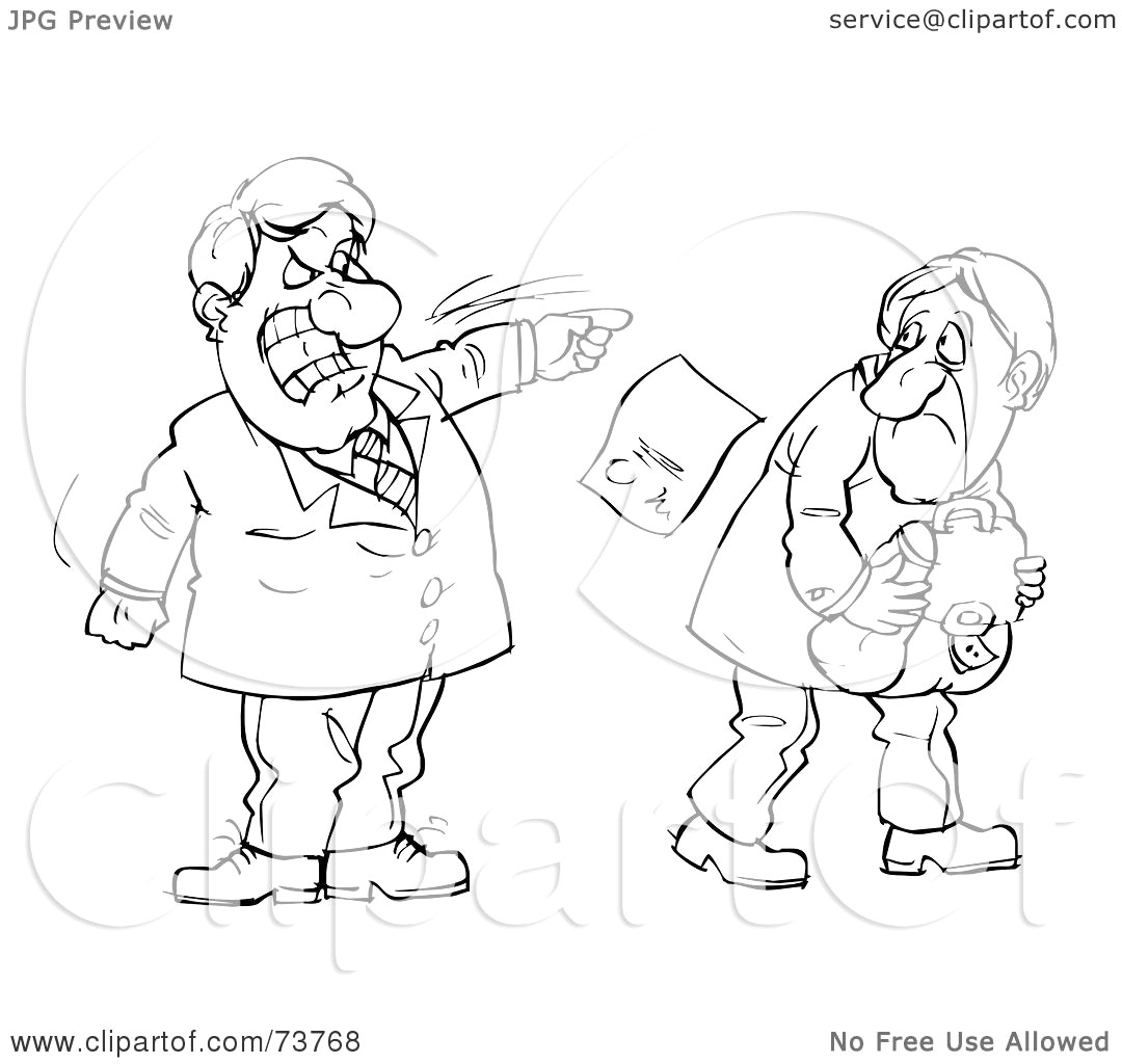 Boss clipart mean person. Royalty free rf illustration