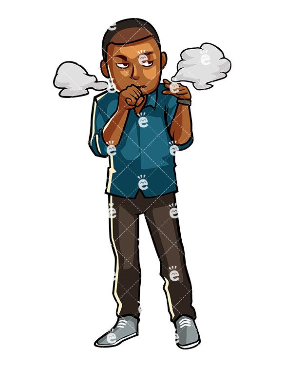 A black man annoyed. Boss clipart mean person