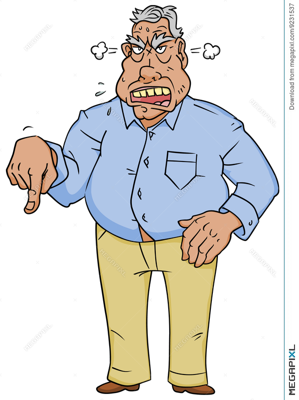 Angry man illustration megapixl. Boss clipart mean person