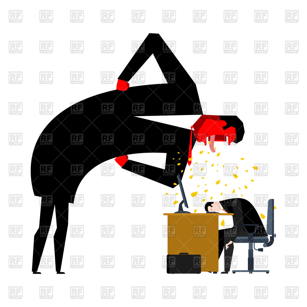 Collection of free download. Boss clipart mean person