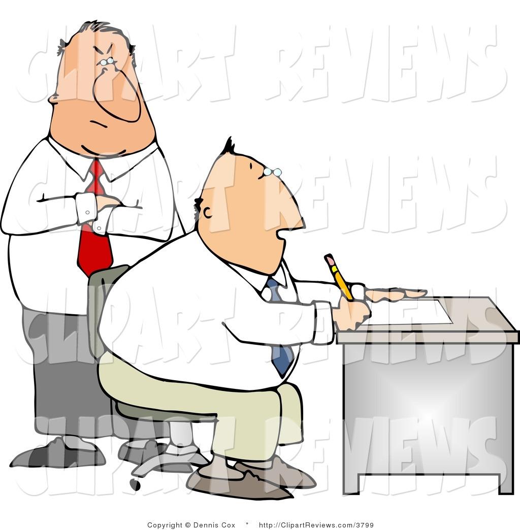 Clip art of a. Boss clipart supervisor employee