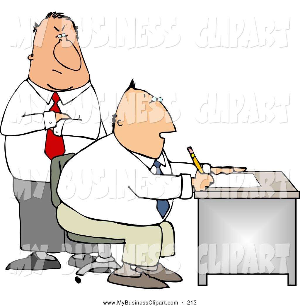 Boss clipart supervisor employee. Royalty free stock business