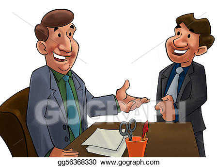 And worker stock illustration. Boss clipart work boss