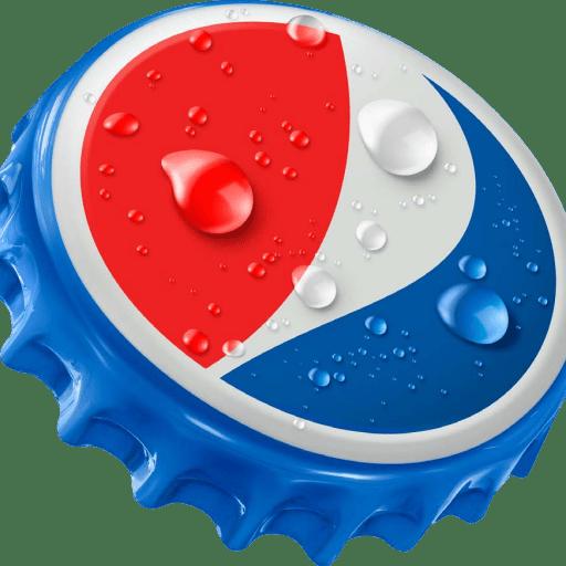 Bottle cap png. Cropped new logo pepsi