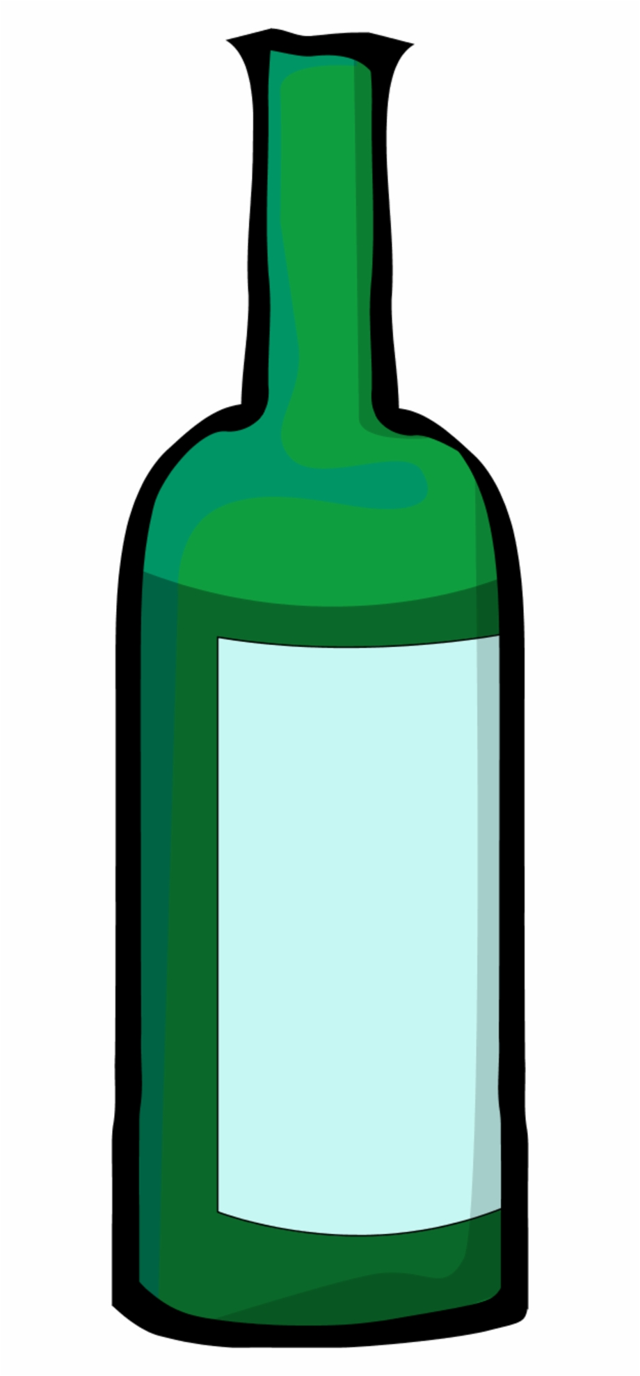 Bottle clipart. Green wine clip art