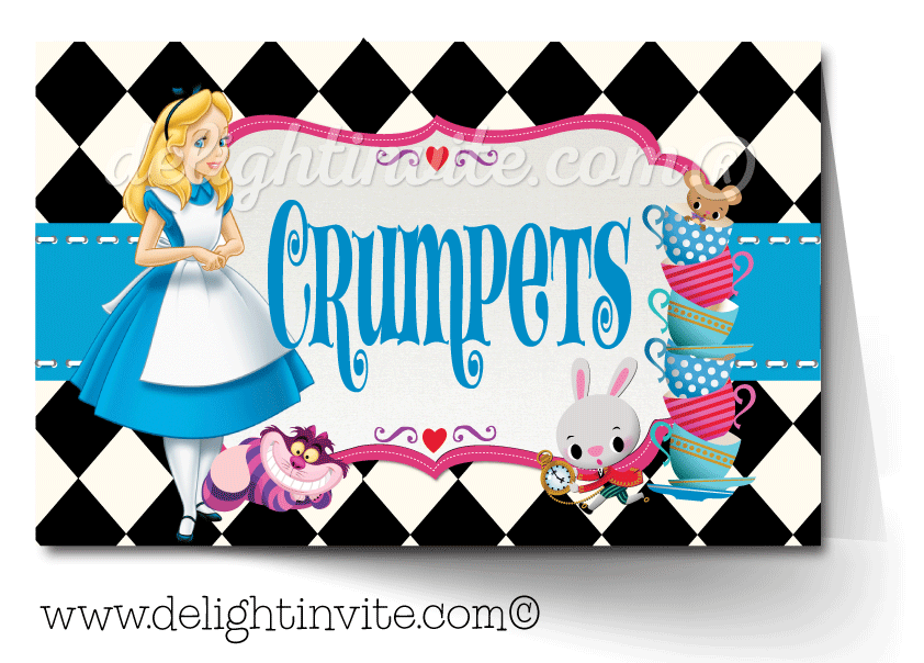 Food tent cards di. Bottle clipart alice in wonderland