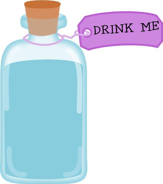 best images on. Bottle clipart alice in wonderland