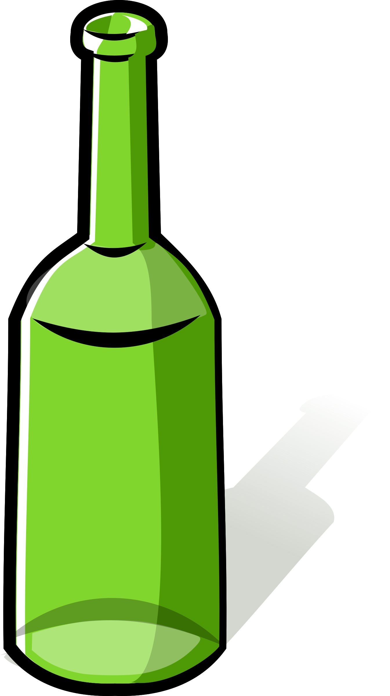 Green big image. Beer bottle clipart png