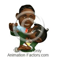 Son giving dad drawing. Bottle clipart animated