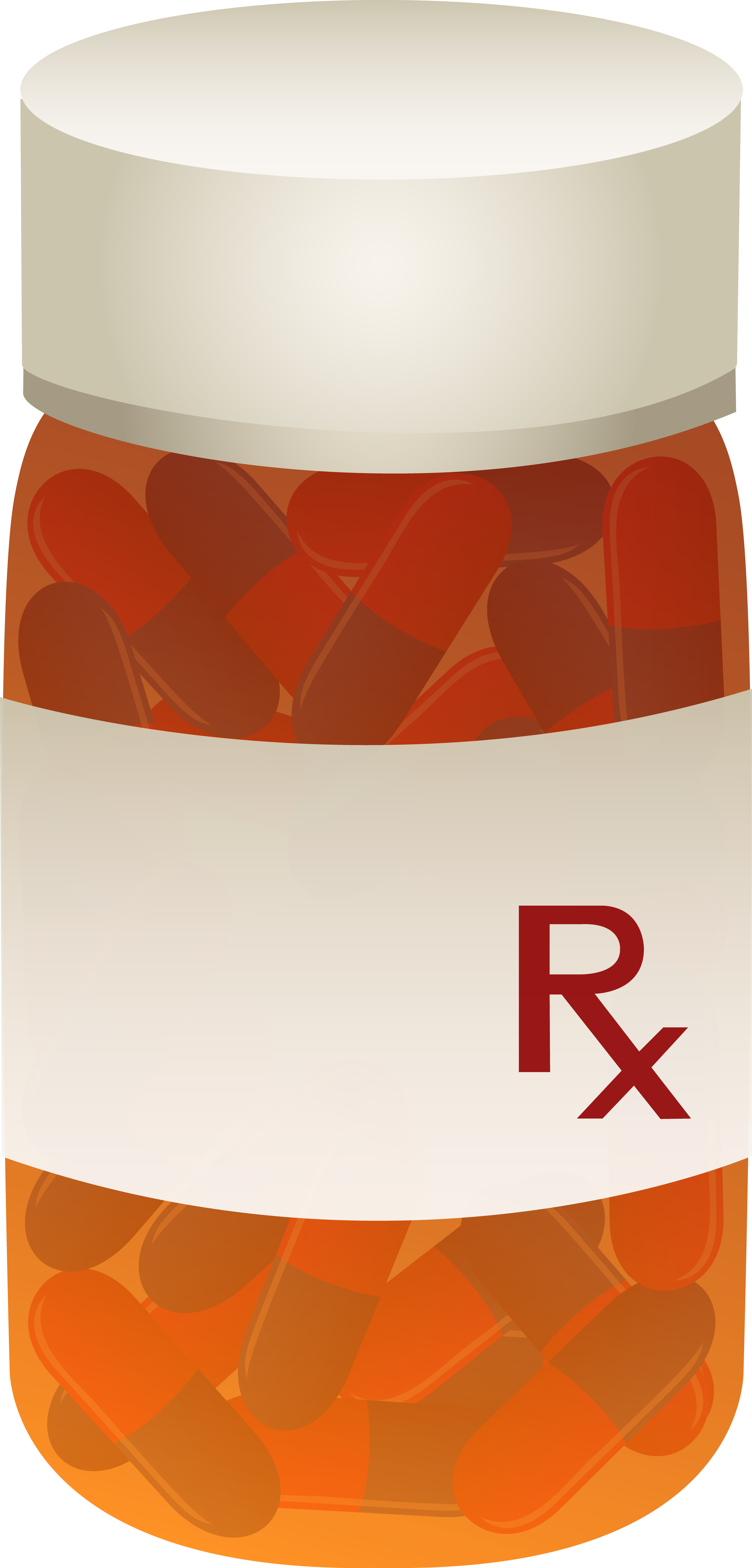 Bottle of prescription pills. Medication clipart medicine container