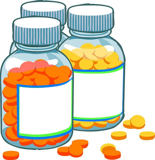 Probiotics after antibiotic treatment. Medical clipart medical field