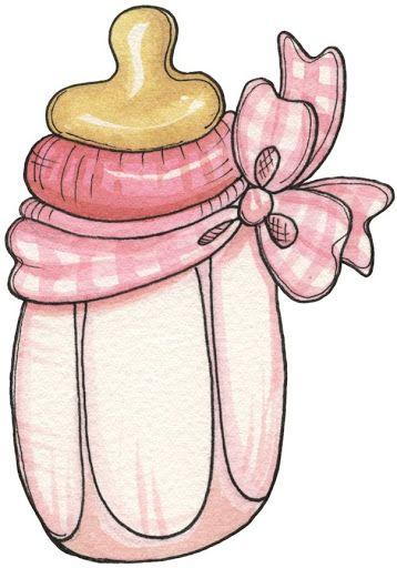 Pink clip art pinterest. Bottle clipart baby girl