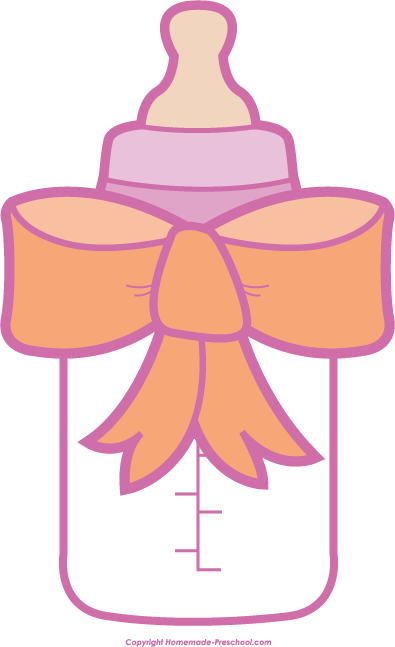 Bottle clipart baby girl. Shower click to save