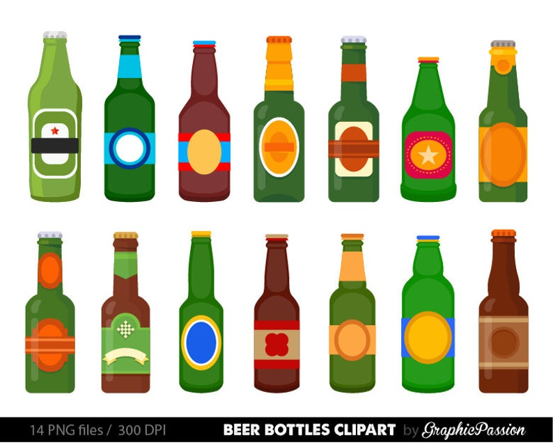 Clip art vector digital. Bottle clipart beer bottle