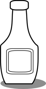Bottle clipart black and white. Ketchup clip art at