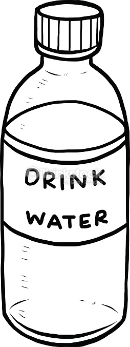 Bottle clipart black and white. Water station