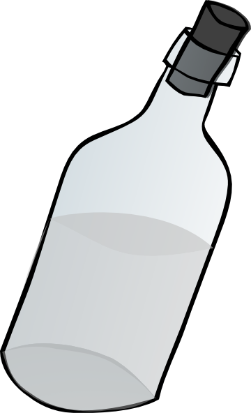 Bottle clipart black and white. Glass clip art at