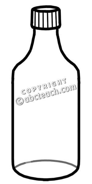 Water panda free bottleclipart. Bottle clipart black and white